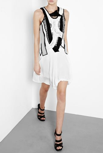 Helmut Lang Beaded Macramé Ruched Dress - Lyst