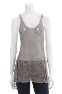 Inhabit Knit Racerback Tank Sweater - Lyst