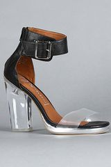 Jeffrey Campbell The Soiree Shoe in Black and Clear - Lyst