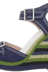 Michael Antonio Gemma Wedge Sandal in Blue (navy) - Lyst