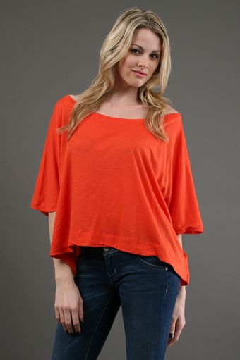 Michael Stars Cropped Scoop in Persimmon 20 Off - Lyst