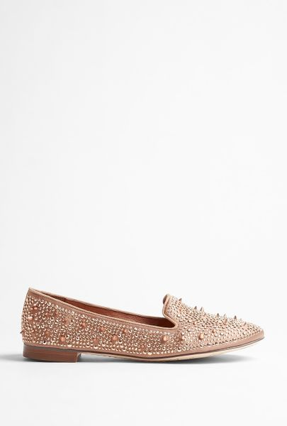 Sam Edelman Rose Gold Adena Stud Satin Smoking Slipper in Pink (rose) - Lyst