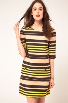 Whistles Edith Stripe Shift Dress - Lyst