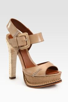 Boutique 9 Gennifer Leather Slingback Platform Sandals - Lyst