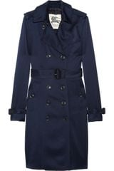 Burberry Silkcharmeuse Trench Coat - Lyst