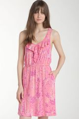 Caslon® Ruffled Racerback Knit Dress - Lyst