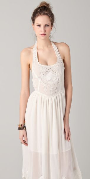 Free People Embellished Sundress In White Ivory Lyst