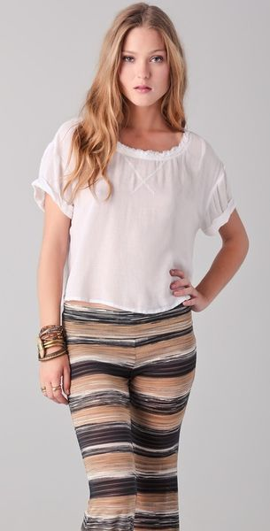 Free People Lou Laid Back Tee - Lyst