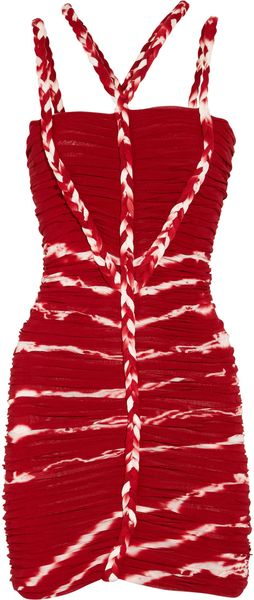 Isabel Marant Lia Ruched Fineknit Jersey Dress - Lyst