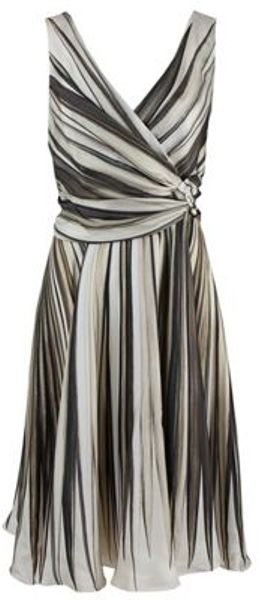 Oscar De La Renta Oscar De La Renta Dress in Gray (beige) - Lyst