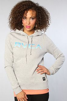 RVCA The Big Rvca Fade Hoody in Gray - Lyst