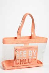 See By Chloé Zip File Transparent Tote