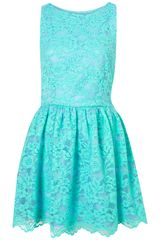 Topshop Lace Skater Dress