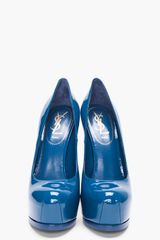 Yves Saint Laurent Chinese Blue Tribtoo Pumps in Blue - Lyst