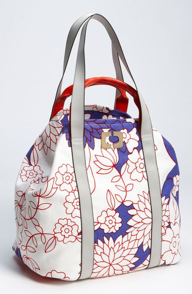 Diane Von Furstenberg Kaya Large Print Canvas Tote in Floral (simple garden) - Lyst