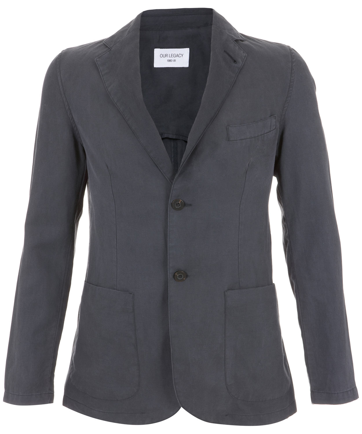 c3092247b33f Our Legacy Unconstructed Two-button Blazer in Blue for Men - Lyst