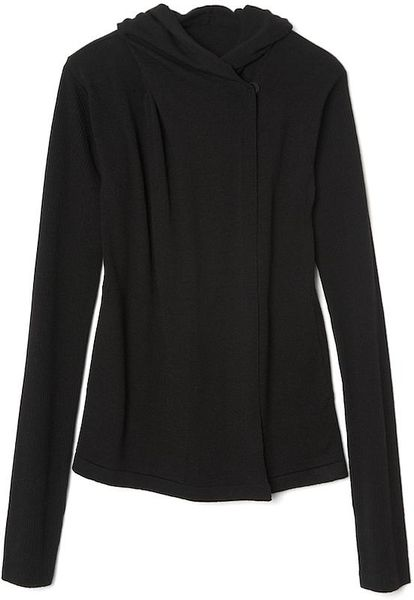 Rick Owens Hooded Beach Sweater in Black - Lyst