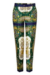 D&g Green Foulard Print Pants in Green - Lyst