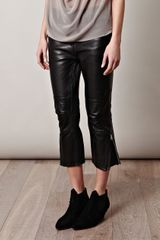 Acne Dust Leather Moto Trousers - Lyst