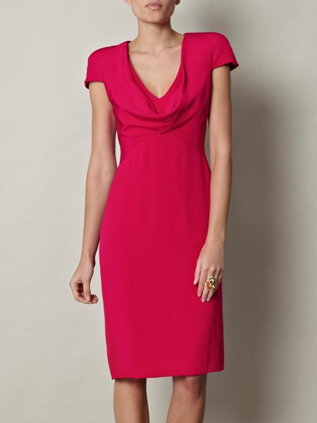 Alexander Mcqueen Silk Dress in Red - Lyst