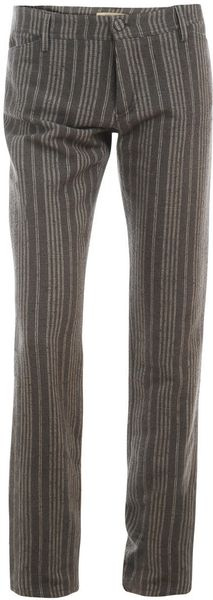 Balenciaga Striped Silk Blend Trousers in Multicolor - Lyst
