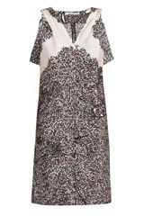 Balenciaga Leafprint Silk Dress in Multicolor (white) - Lyst