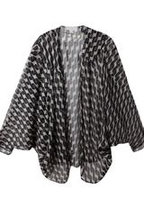 Beyond Vintage Printed Silk Cape in Black - Lyst