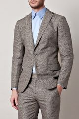 Bottega Veneta Fleck Print Suit in Blue for Men (black) - Lyst