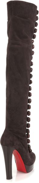 Christian Louboutin Chasse 140 Boots in Brown - Lyst