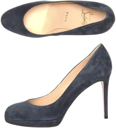 Christian Louboutin New Simple 100mm Suede Pumps in Blue (navy) - Lyst