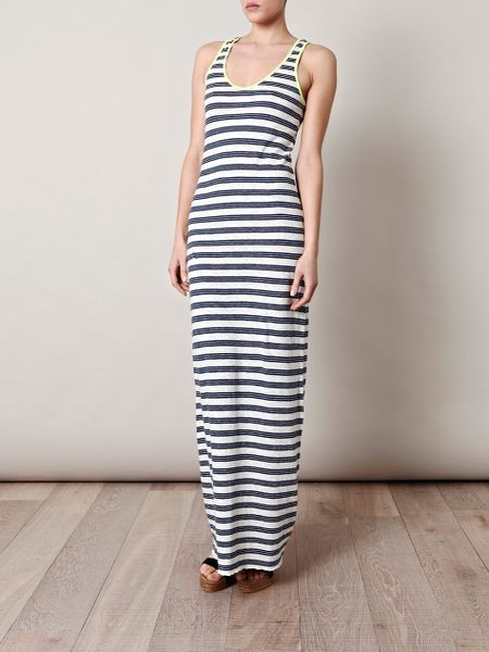 Closed Stripe Maxi Dress in White - Lyst