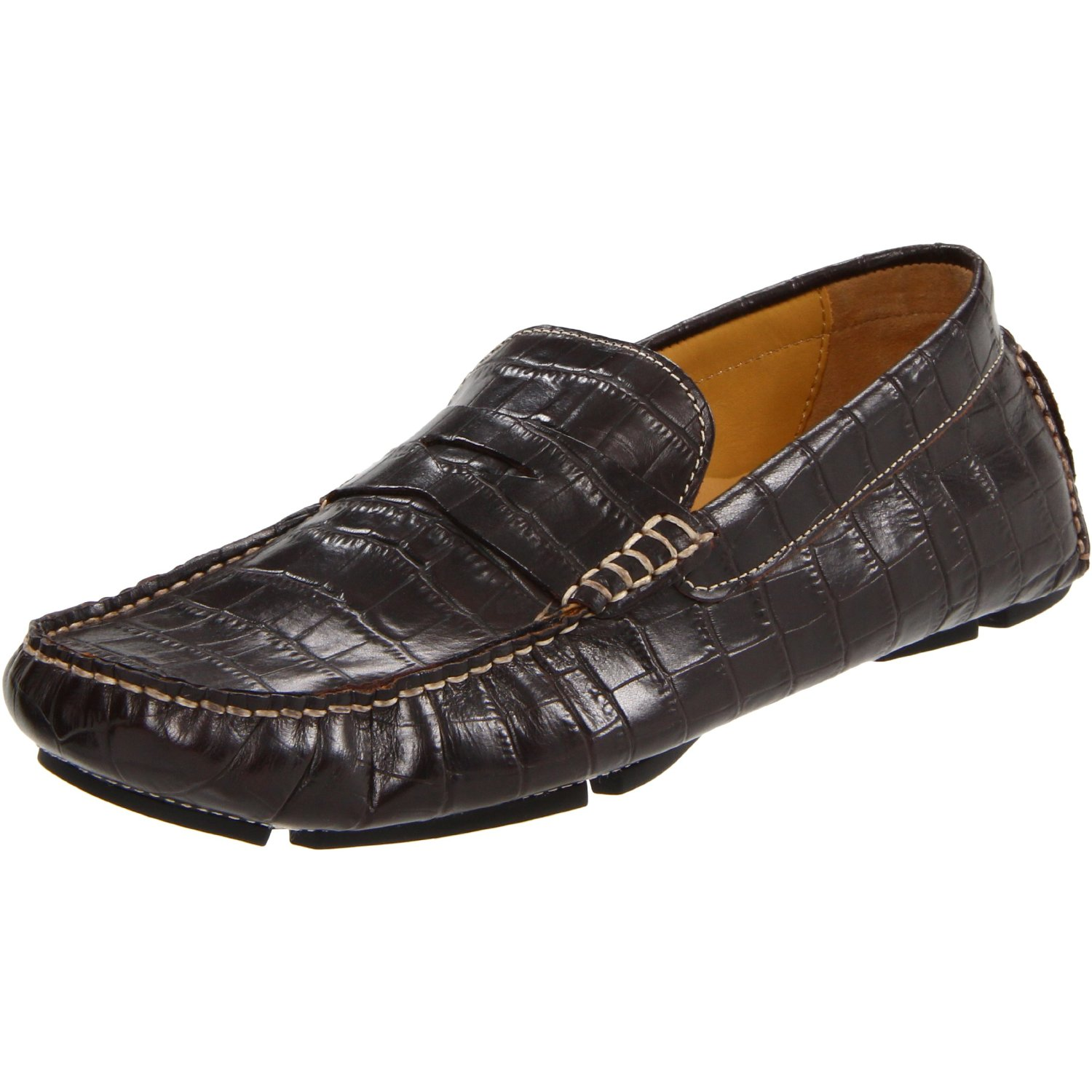 cole haan mens howland penny loafer in brown for men crocodile lyst. Black Bedroom Furniture Sets. Home Design Ideas