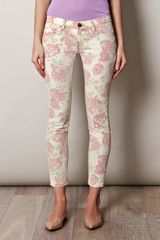 Current/Elliott Roseprint Jeans - Lyst