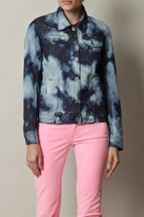 Danielle Scutt Acid Wash Denim Jacket - Lyst