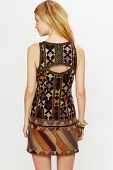 Free People Phulkari Embroidered Shift in Multicolor (black) - Lyst