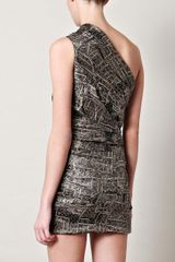 Isabel Marant Inio Oneshoulder Dress in Gray (black) - Lyst