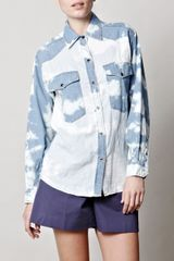Isabel Marant Maggy Tiedye Shirt in Blue - Lyst