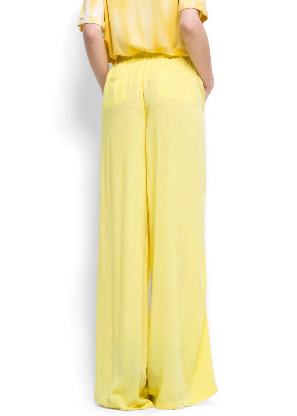 Mango Palazzo Trousers In Black Lyst