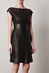 McQ by Alexander McQueen Lattice Laser Cut Dress - Lyst