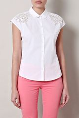 McQ by Alexander McQueen Embroidered Shoulder Shirt - Lyst