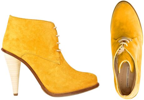 Opening Ceremony Suede Boots in Yellow (mustard) - Lyst