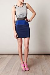 Rag & Bone Layered Bodycon Dress in Blue (navy) - Lyst