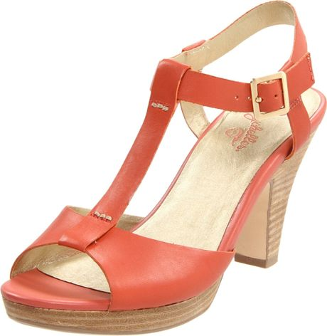 Seychelles Seychelles Womens Hey There Tstrap Sandal in Orange - Lyst