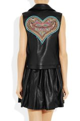Thakoon Embellished Leather Vest in Black - Lyst