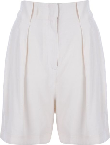 By Malene Birger Shory Shorts in Beige (nude) - Lyst
