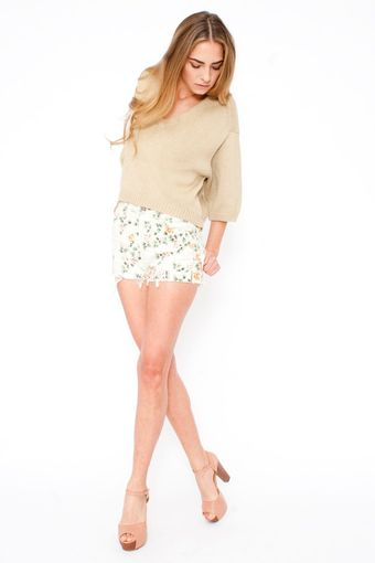 Citizens Of Humanity Chloe Rose Print Shorts in Natural - Lyst