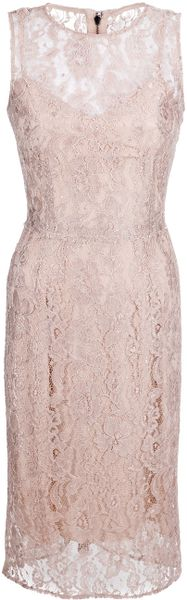 Dolce & Gabbana Lace Dress in Beige (nude) - Lyst