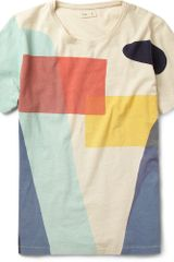 Folk Printed Slub Cotton Tshirt - Lyst