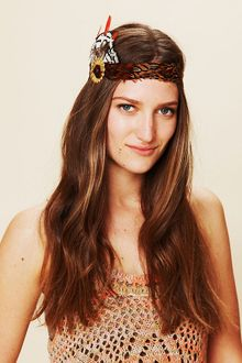 Free People Gilded Feather Headdress - Lyst