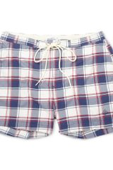 Gant Rugger Check Swim Shorts - Lyst